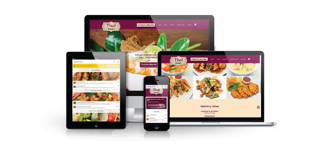 Get Food Online showcasing responsiveness of customer website